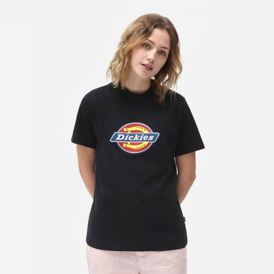 חולצת T Dickies לנשים Dickies Icon Logo - שחור