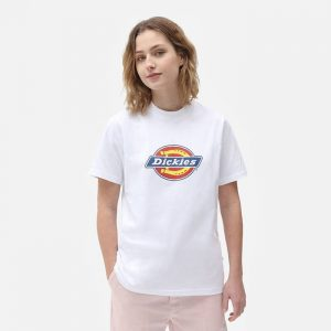 חולצת T Dickies לנשים Dickies Icon Logo - לבן
