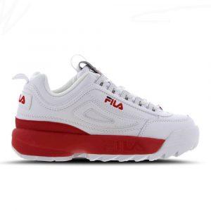 נעלי סניקרס פילה לנשים Fila Disruptor II - לבן/אדום