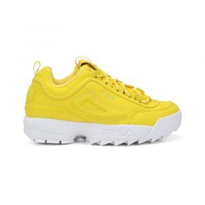 נעלי סניקרס פילה לנשים Fila Disruptor II - צהוב