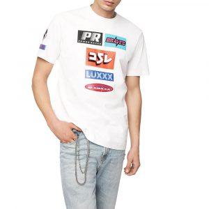 חולצת T דיזל לגברים DIESEL T-Just YA - לבן