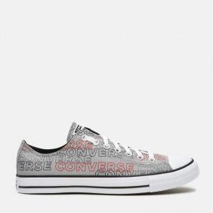 נעלי סניקרס קונברס לגברים Converse Chuck Taylor All Star Wordmark - אפור בהיר