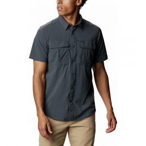 חולצה מכופתרת קולומביה לגברים Columbia NEWTON RIDGE - אפור כהה