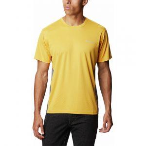 חולצת אימון קולומביה לגברים Columbia ZERO ICE CIRRO-COOL - צהוב