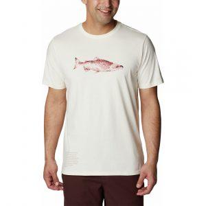 חולצת T קולומביה לגברים Columbia CLARKWALL ORGANIC - לבן