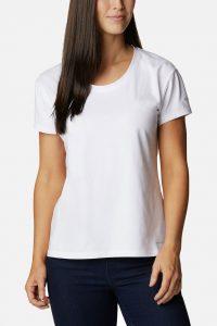 חולצת T קולומביה לנשים Columbia Sun Trek - לבן