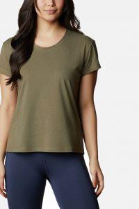 חולצת T קולומביה לנשים Columbia Sun Trek - ירוק זית