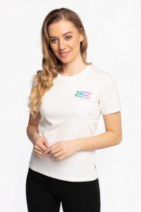 חולצת T קונברס לנשים Converse Exploration Team - לבן