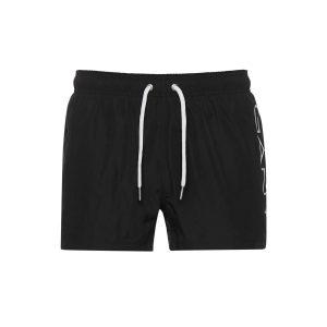 בגד ים גאנט לגברים GANT Logo Lightweight - שחור