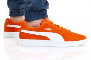 נעלי סניקרס פומה לגברים PUMA SMASH V2 BUCK - כתום