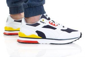 נעלי סניקרס פומה לגברים PUMA R78 - צבעוני/לבן