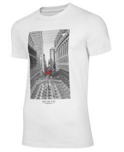 חולצת T פור אף לגברים 4F TSM020 - לבן