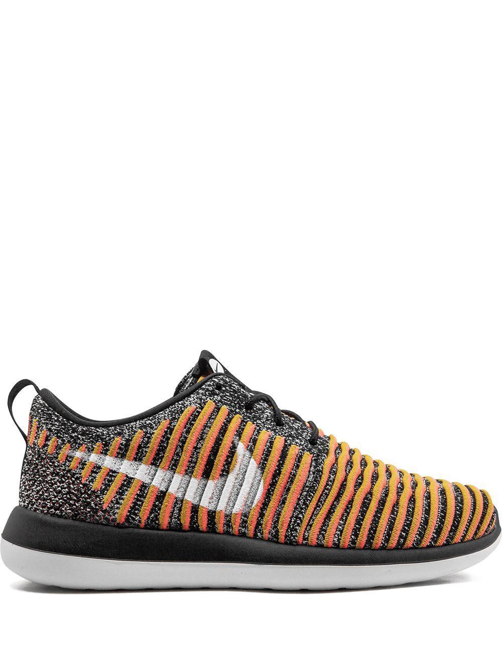 נעלי סניקרס נייק לנשים Nike Roshe Two Flyknit - צבעוני כהה