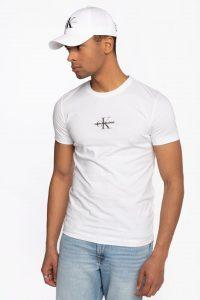 חולצת T קלווין קליין לגברים Calvin Klein NEW ICONIC - לבן