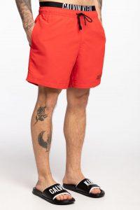 בגד ים קלווין קליין לגברים Calvin Klein BANADOR CORTO - אדום