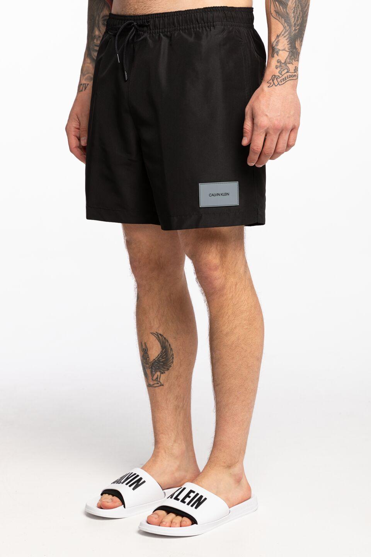 בגד ים קלווין קליין לגברים Calvin Klein DRAWSTRING - שחור