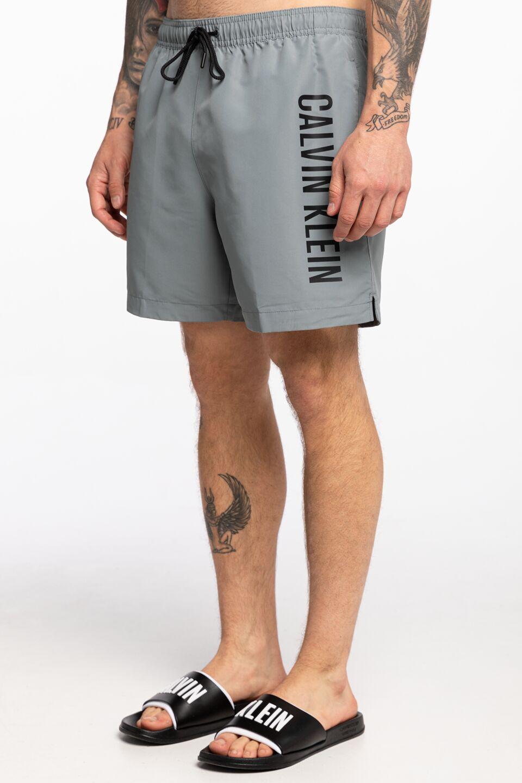 בגד ים קלווין קליין לגברים Calvin Klein DRAWSTRING - אפור