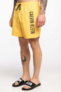 בגד ים קלווין קליין לגברים Calvin Klein DRAWSTRING - צהוב