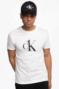 חולצת T קלווין קליין לגברים Calvin Klein RELAXED CREW - לבן