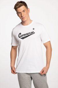 חולצת T קונברס לגברים Converse Front Logo - לבן