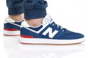 נעלי סניקרס ניו באלאנס לגברים New Balance AM574 - כחול/אדום