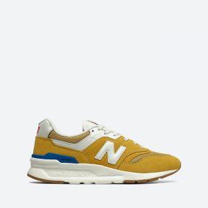 נעלי סניקרס ניו באלאנס לגברים New Balance CM997 - לבן/צהוב