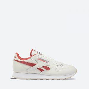 נעלי סניקרס ריבוק לגברים Reebok Classic leather - לבן/אדום