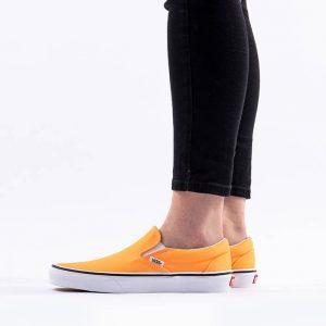נעלי סניקרס ואנס לגברים Vans Classic Slip-On - לבן/כתום