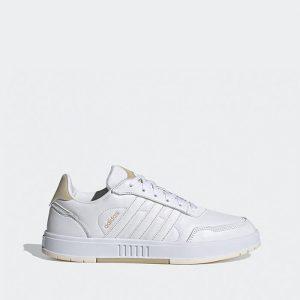 נעלי סניקרס אדידס לגברים Adidas Courtmaster - לבןחום