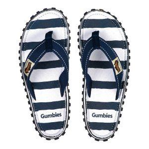 כפכפי גאמביז לגברים Gumbies ISLANDER CANVAS - כחול/לבן