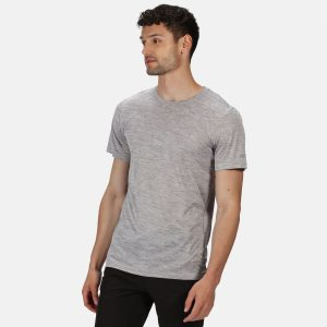 חולצת T רגטה לגברים Regatta FINGAL EDITION - אפור בהיר