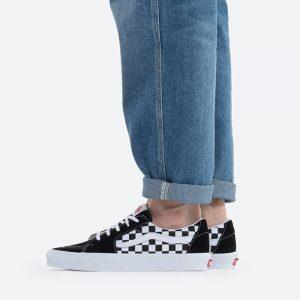 נעלי סניקרס ואנס לגברים Vans Sk8-Low - שחור/לבן