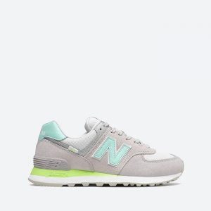 נעלי סניקרס ניו באלאנס לנשים New Balance WL574 - אפור/טורקיז
