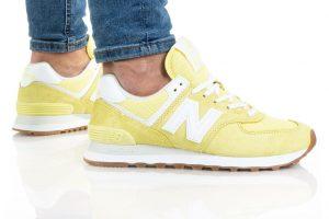 נעלי סניקרס ניו באלאנס לנשים New Balance WL574 - צהוב בהיר