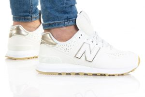 נעלי סניקרס ניו באלאנס לנשים New Balance WL574 - לבן