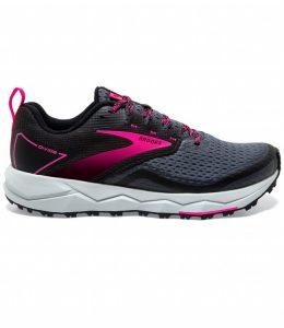 נעלי ריצת שטח ברוקס לנשים Brooks 2 Divide - אפור/סגול