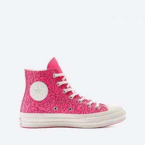 נעלי סניקרס קונברס לנשים Converse Chuck 70 Hi My Story - ורוד