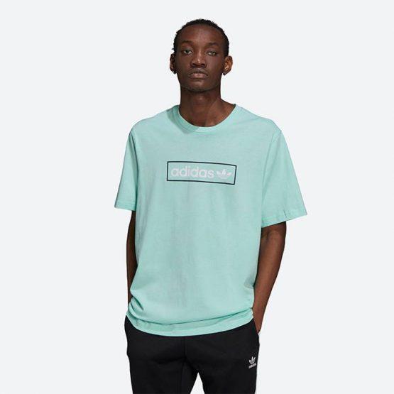חולצת T אדידס לגברים Adidas Originals Linear Logo - ירוק