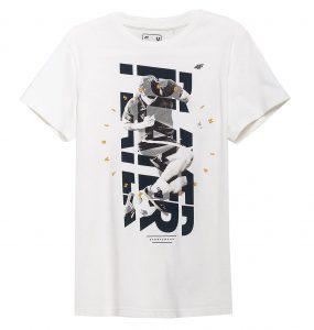 חולצת T פור אף לגברים 4F H4L21 TSM011 - לבן