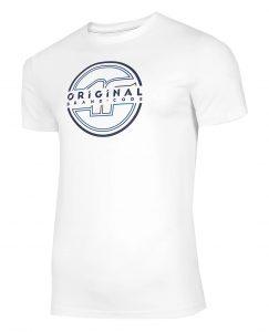 חולצת T פור אף לגברים 4F H4L21 TSM019 - לבן
