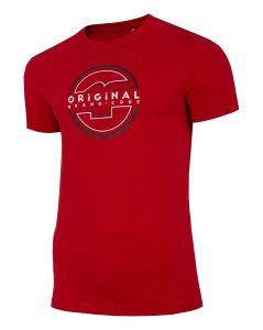 חולצת T פור אף לגברים 4F H4L21 TSM019 - אדום