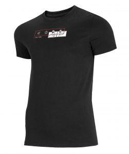 חולצת T פור אף לגברים 4F H4L21 TSM021 - שחור