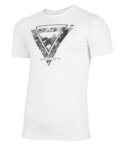 חולצת T פור אף לגברים 4F H4L21 TSM022 - לבן