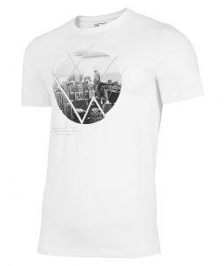 חולצת T פור אף לגברים 4F H4L21 TSM023 - לבן