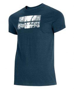 חולצת T פור אף לגברים 4F H4L21 TSM025 - כחול כהה