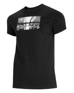 חולצת T פור אף לגברים 4F H4L21 TSM025 - שחור