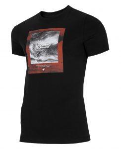 חולצת T פור אף לגברים 4F H4L21 TSM028 - שחור