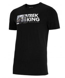 חולצת T פור אף לגברים 4F H4L21 TSM060 - שחור