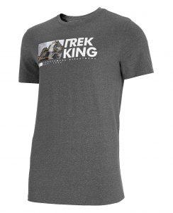 חולצת T פור אף לגברים 4F H4L21 TSM060 - אפור