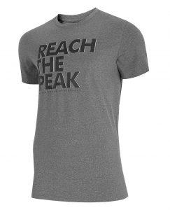 חולצת T פור אף לגברים 4F H4L21 TSM061 - אפור